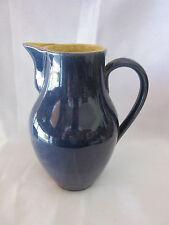 Vintage Jug Pitcher Bourne Denby Made in England Water Pottery Navy Blue of