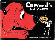 Vintage Children's Scholastic Book CLIFFORD'S HALLOWEEN by Norman Bridwell