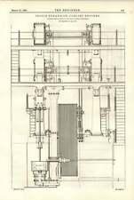 1891 Musgrave Bolton a tripla espansione Corliss MOTORI diagrammi di prova