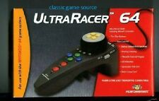 TWO NEW IN BOXES  Nintendo 64 N64 UltraRacer Steering Wheel Controllers