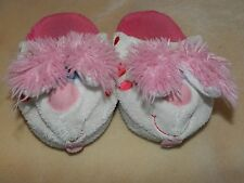 GUC Girls Stompeez! Pink Bunny Slippers Small 9-11 Slip on... Easter!