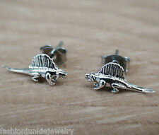 Dinosaur Earrings - 925 Sterling Silver Post Earrings - Dimetrodon *NEW* Dino