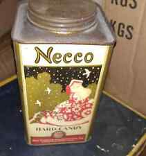 1920 Art Deco NECCO PEACH BLOSSOMS ADVERTISING CANDY TIN with Original LID