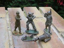 QUIRALU / BF / LR Lot 4 soldats quiralu et autres dont porte drapeau,à restaurer
