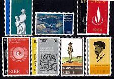 Irlande Timbres #266 320 — (7) Ensembles Complets 1968 Excellent État