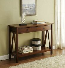Narrow Hall Table And Drawer Console Antique Vintage Style Compact Side Entryway