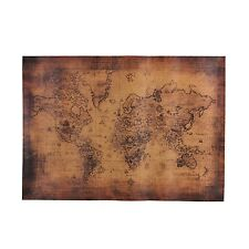 World Map Paper Retro Vintage Style Posters Retro In Wall Stickers Home Decor...