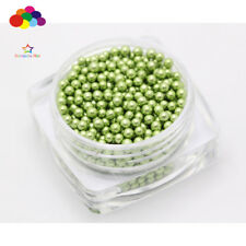 1000 pcs 12g Glass Pearlescent Green Micro Beads small No Hole 1.5-2mm Nail Art