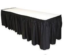 Table Set Linen-Like Table Skirting - Black new.