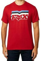 FOX Mens T-Shirt Red Medium M Far Out Logo Short Sleeve Graphic Tee Crewneck 242