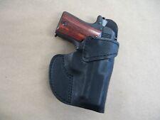 LLama Micro 380 Leather Clip On OWB Belt Concealment Holster CCW - BLACK RH USA