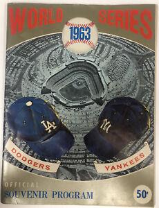 1963 World Series Official Souvenir Program LA Dodgers vs. New York Yankees
