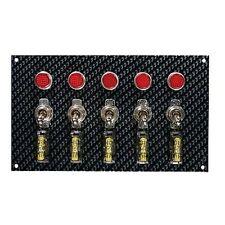"MOROSO 74148 Toggle Switch Panel Grey/Black Fiber Design, 6-3/4"" x 4"", 1/2"" LED"