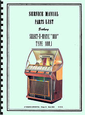 MANUALE COMPLETO  (complete manual) JUKEBOX SEEBURG 100J  (juke box)