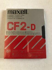 "Maxell CF2 3"" Compact Floppy Disc vintage Circa 1988/89 Blank Media 360Kb Sealed"