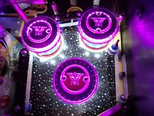 BRIDE OF PINBOT BOP CHROME PINBALL POP BUMPER DECALS METAL-MODS