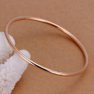 "Estate & Vintage $5600 18k Rose Gold Over Bangle Bracelet 7.5"" RARE For Unisex"