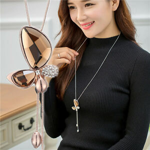Fashion Charm Jewelry Pendant Chain Long Gold Plated Choker Statement Necklace