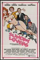 SUNDAY LOVERS Gene Wilder Roger Moore 1981 ONE SHEET MOVIE POSTER 27 x 41