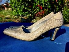 TORTA CALIENTE Snake Skin COBRA Platforms Wedges High Heels Womens Shoes Sz 9