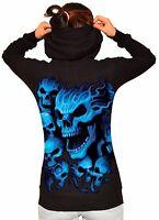 New Juniors Americana Skull Fleece Zipper Hoodie All Size S-2XL