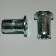 Blindnietmuttern M3 - M12 Stahl verzinkt Flachkopf ger. Einnietmutter Nietmutter