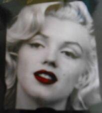 New Marilyn Monroe Sepia Soft Fleece Throw Gift Blanket Photo Red Lips Decor NIP
