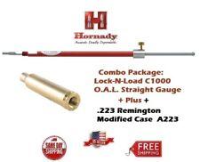 Hornady Lock-N-Load STRAIGHT OAL Gauge C1000 + .223 / 5.56mm Modified Case A223