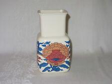 Irish Fine Earthenware Celtic Vintage Vase Ireland Stoneware Floral Orange Blue
