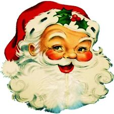 30 Custom Retro Santa Claus Personalized Address Labels