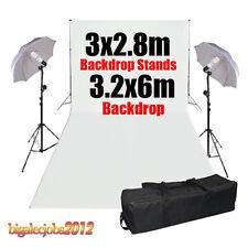 Soporte Fondo Foto Estudio Fotografía blanco 3.2x6m Pantalla Bolsa para Iluminar