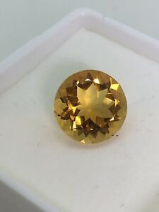 4.50ct Loose Natural Golden Yellow Citrine