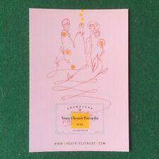 (6254) 1 Cartolina VEUVE CLICQUOT PONSARDIN ROSE' CHAMPAGNE card advertising