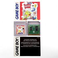 Bubble Bobble 2 (Nintendo Game Boy, 1993) Authentic w/ Manual Tested & Works