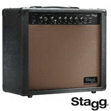 "Stagg 20 Watts Acoustic Guitar Amp with 8"" Speaker and Spring Reverb 20-AA-R-USA"