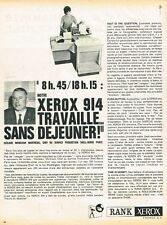 M- Publicité Advertising 1962 Le Copieur Rank Xerox 914
