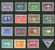 ICELAND 1930 1000 YEARS PARLIAMENT ALLTINGET OFFICIALS O53-O67 + CO1 PERFECT MH