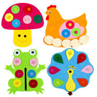 KQ_ IC- DI- HB- DIY Cartoon Non-woven Clip Craft Toy Montessori Baby Kid Enlight