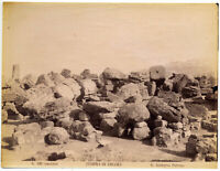 Selinunte Ruins of the Temple of Hercules Large original albumen photo 1880 L742