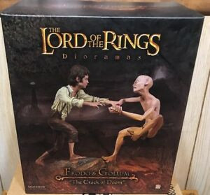 RARE! Sideshow LOTR Lord Of The Rings-Crack Of Doom Frodo+Gollum Statue 746/1500