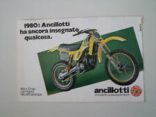 advertising Pubblicità 1980 MOTO ANCILLOTTI 125 CROSS