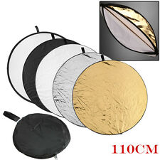 """43"""" 5-in-1 Mulit Photography Light Reflector Collapsible Photo light Disc 110cm"""