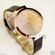 Luxury Watch Women Bling Crystal Leather Analog Quartz Ladies Dress Wrist Watch