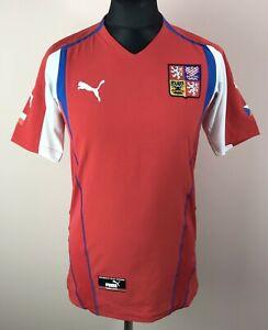 Czech Republic EURO 2004/2005 PUMA Home Football Shirt Mens Size S Soccer Jersey