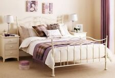 Katrina Metal Bed Frame In Cream Double 135cm 4ft 6