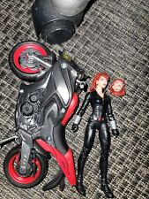 """Marvel Legends Series Black Widow 6"""" Action Fgure with Motorcycle"""
