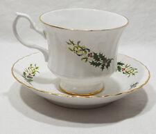 Bluebird Fine Bone China Tea Cup & Saucer Gold Trim Made in Canada