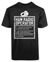 Ham Radio Operator New Men's Shirt Problems Solving Authentic Summer Casual Tees