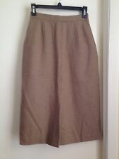 Evan Picone Vintage Tailored Light Brown Wool Skirt with Pockets 4