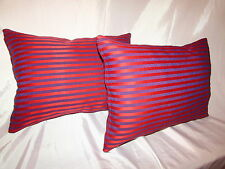"2 THROW PILLOW CUSHION COVERS 12+17"" STRIPE"
